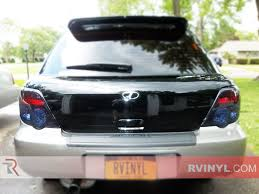 subaru wrx hatchback spoiler rtint subaru wrx wagon 2004 2005 tail light tint film