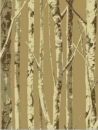 eh61007 brown contemporary birch tree sbk14257