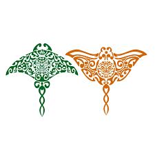 tribal stingray cuttable design apex embroidery designs