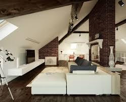steinwand wohnzimmer tipps 2 wohnzimmer einrichten gemütlich unter dachschräge dach