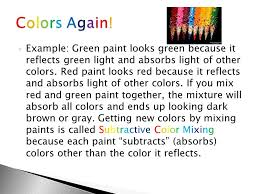 physics talk 5 10 making different lights and paints ppt download