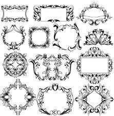 classical ornaments frame vector set vector frames borders