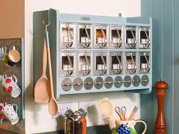 kitchen attractive spice rack for rustic kitchen soft blue