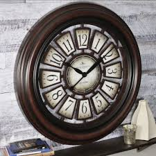 firstime 29 in round majestic hollow wall clock 10026 the home