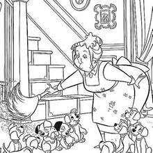 nanny 2 coloring pages hellokids
