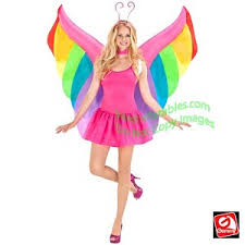 Halloween Blow Costumes Gemmy Airblown Inflatable Rainbow Butterfly Wings Costume