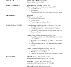 first resume sle for a highschool student marvelous high resume exles for jobs college admission