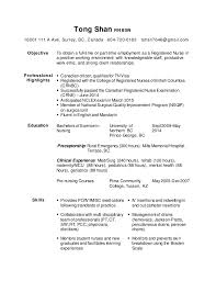 Nursing Resume Examples With Clinical Experience by 28 Bsn Resume Professional Nursing Resume Bsn Nursing