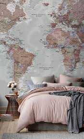 World Map Wallpaper by 25 Best World Map Wall Ideas On Pinterest Bedroom Wallpaper