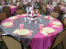 table set up for the princess themed baby shower our events