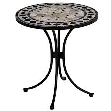 Mosaic Bistro Table Home Styles Marble Bistro Table Black Gray Walmart