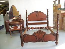 Victorian Bed Set by Antique 1920 Bedroom Set Victorian Bed Vanity Mahogany Antique