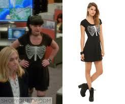 Abby Sciuto Halloween Costume Ncis Season 12 Episode 3 Abby U0027s Black Rib Cage Dress Tv Show