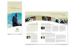 tri fold brochure publisher template investment management tri fold brochure template word publisher