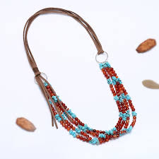 chunky pearl statement necklace images Aobei pearl agate turquoise beads korean velvet cord personalized jpg