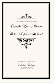 christian wedding program christian and catholic wedding program templates and program