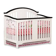 Modern 4 In 1 Convertible Crib Simple Modern White Espresso Wood Springtime 4 In 1 Convertible