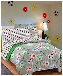 Soccer Comforter Girls Sports Theme Bedroom Decorating Ideas Sports Girls Rooms