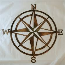 wood compass wall compass nautical metal wall