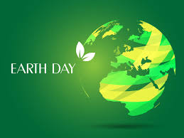 the free earth day ppt backgrounds with green and white background