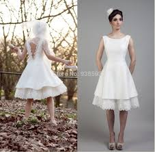 simple knee length wedding dresses simple design lace and satin low back wedding dresses knee