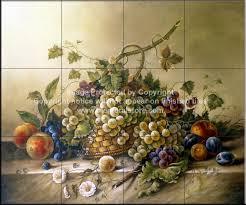 decorative tile backsplash kitchen tile ideas fruit bouquet ii