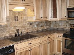 brick backsplash in kitchen kitchen style creame granite countertop stone tile backsplash