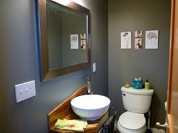 Paint Colors For Powder Room - interior bathroom with dark gray paint color decorations