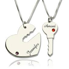 name pendant gifts for him key to my heart name pendant set for