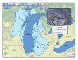 United States Map With Lakes And Rivers by Lake Michigan Basin Inland Aquatic Ecosystems Integrated