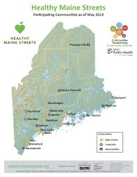 Map Of Maine Towns Maine Development Foundation Maine Downtown Center