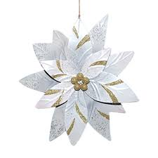 metal poinsettia ornament large at home at home