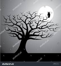 black and white halloween background silhouette halloween vector background tree moon owl stock vector 6286210