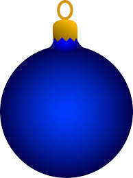 blue tree ornament free clip
