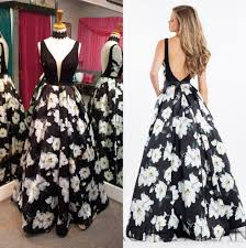 print floral prom dresses 2017 famous design with petal power and