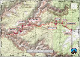 Utah Road Map by Hiking Bullet Canyon Grand Gulch Road Trip Ryan