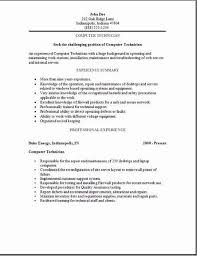 Maintenance Mechanic Resume Examples by Pc Technician Resume Sample 5 Computer Job Samples Visualcv How To