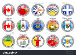New Brunswick Flag Set Icons Regions Canada Flags Vector Stock Vector 558905935