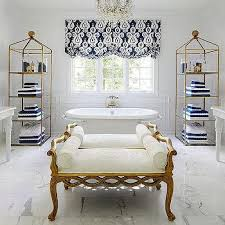 Navy And White Bathroom Ideas - white and gold master bathroom design ideas