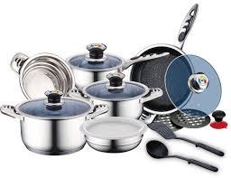 batterie de cuisine en inox royalty line rl 16rgnm batterie de cuisine en inox 16 pcs royalty