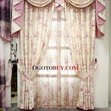 Buy Discount Curtains Big Discount Floral Cotton Feeling Vintage Curtains Buy Pink