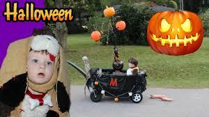 halloween trick or treating kids custom halloween wagon youtube