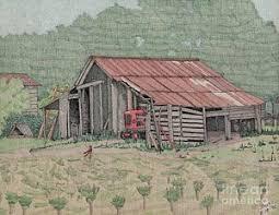 Tractor Barn The Tractor Barn Drawing By Calvert Koerber