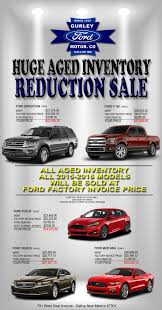 ford blow out sale at gurley motor co gallup