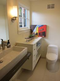Trough Sink Bathroom Vanity Bathroom White Floating Costco Vanity With Trough Sink And Graff