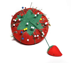 Pin Cushion Tree Tomato Fabric Pin Cushion With Strawberry Red Fabric Sewing From