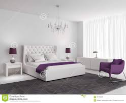 purple and white bedroom white luxury bedroom with purple armchair stock photo image of