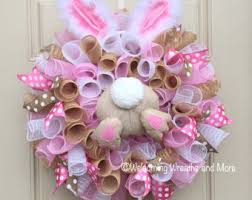 easter bunny wreath mesh easter bunny wreath with bottom and ears