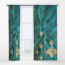 Multi Color Curtains Multicolor Aqua And Gold Mermaid Scales Beautiful Abstract