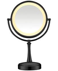 conair two sided makeup mirror with 4 light settings conair touch control double sided lighted makeup mirror bathroom